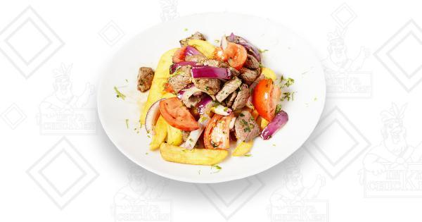 Lomo Saltado de Carne - Ristorante Peruviano Inka Chicken