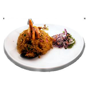 Arroz con Mariscos - Ristorante Peruviano Inka Chicken