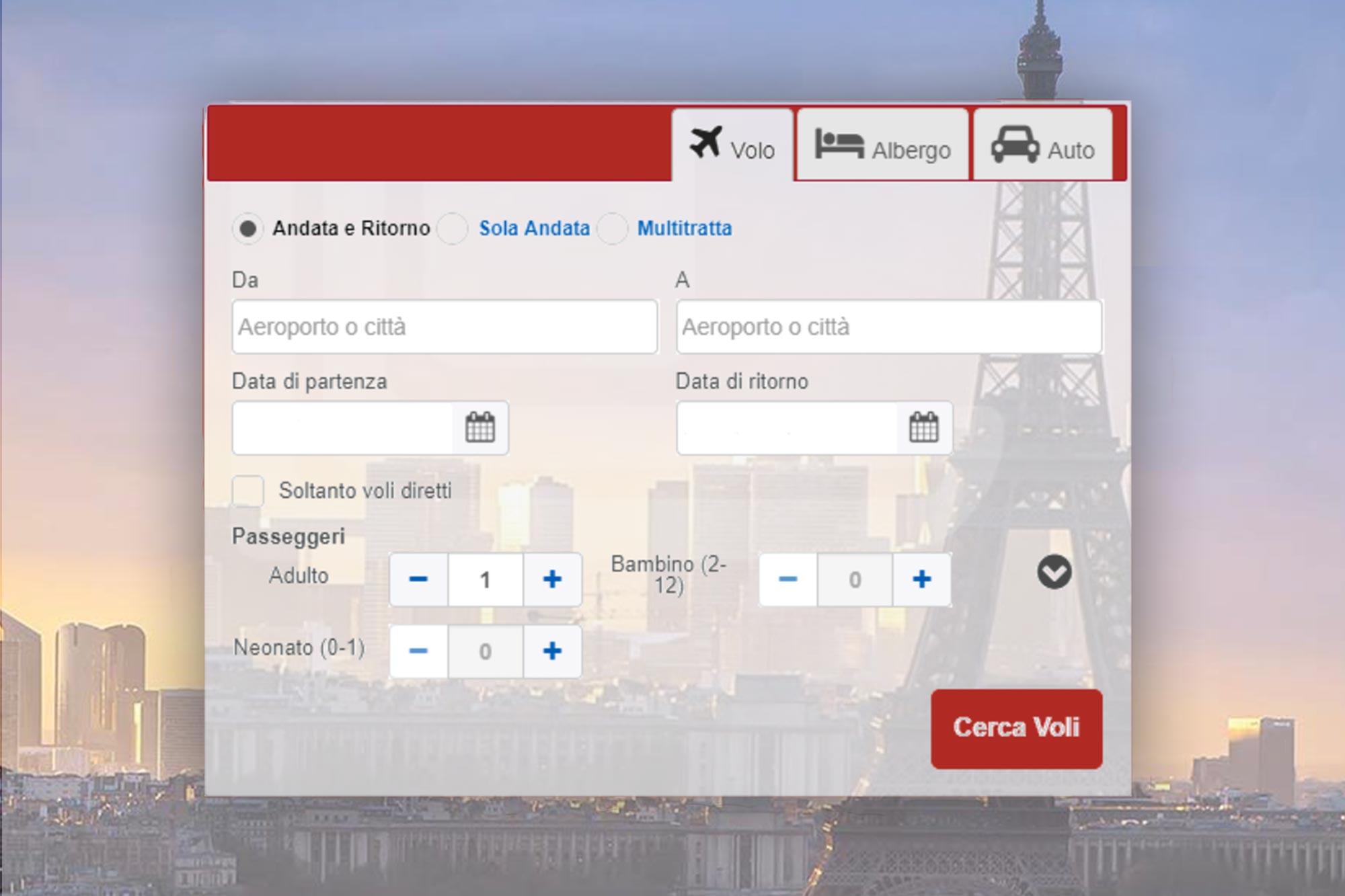 Cerca il tuo volo - Iberoamerica Viaggi Roma